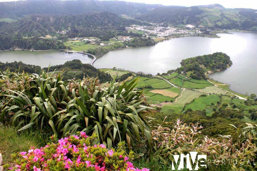 Lagoa de Sete Cidades en Sao Miguel