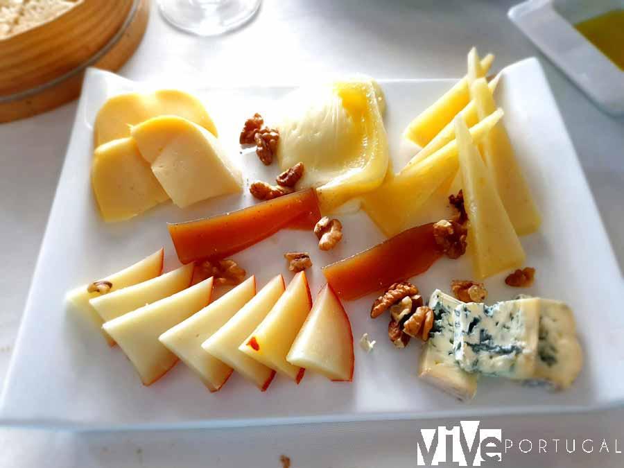 Tabla de quesos del restaurante Cinta D'Ouro