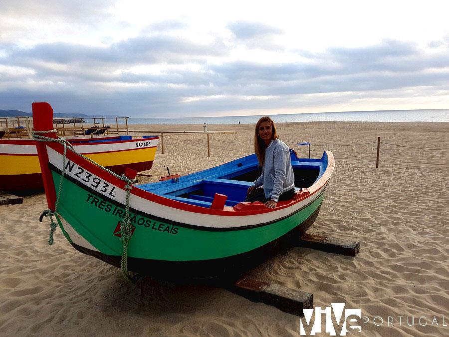 Botes de pesca en la praia da Nazaré qué ver en Nazaré