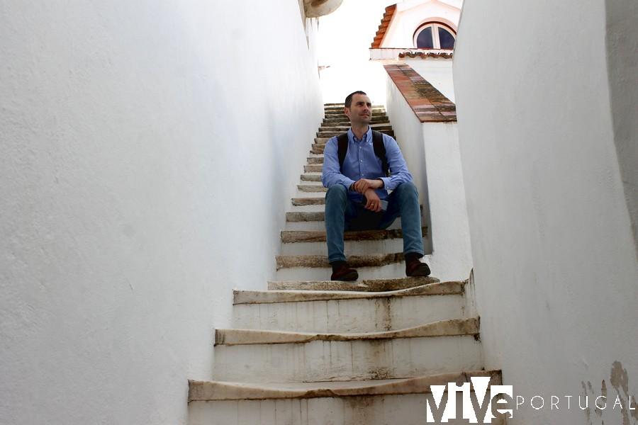 Escaleras de la torre del Paço Reial