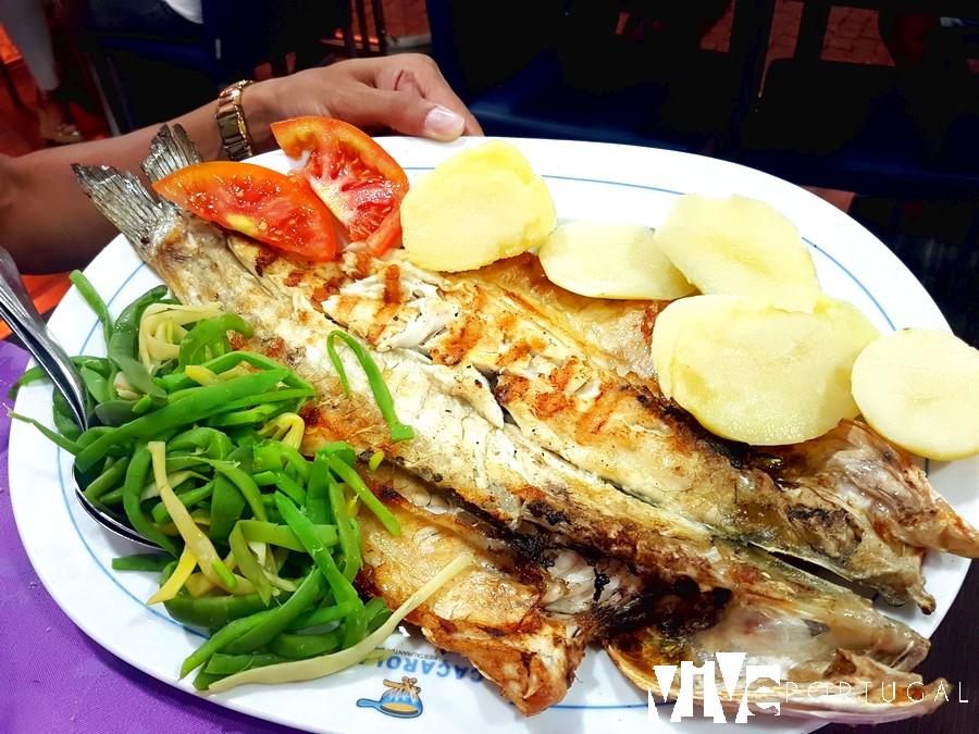 Lubina salvaje del restaurante Caçarola 1