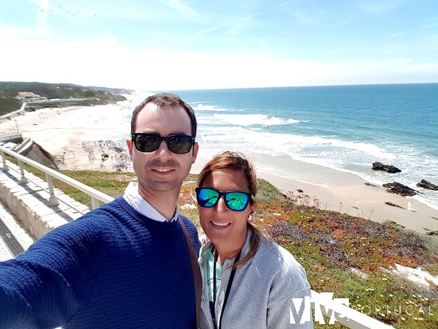 Selfie en la playa de São Pedro de Moel