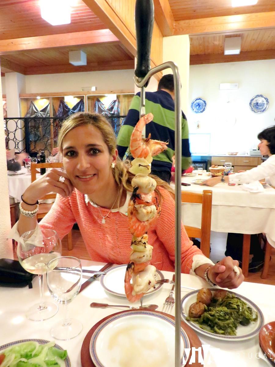 Espetada de marisco del restaurante Berne