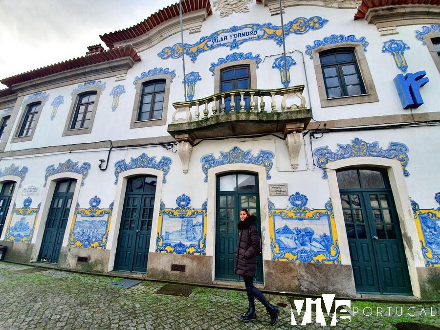 Fachada de la estación de Vilar Formoso