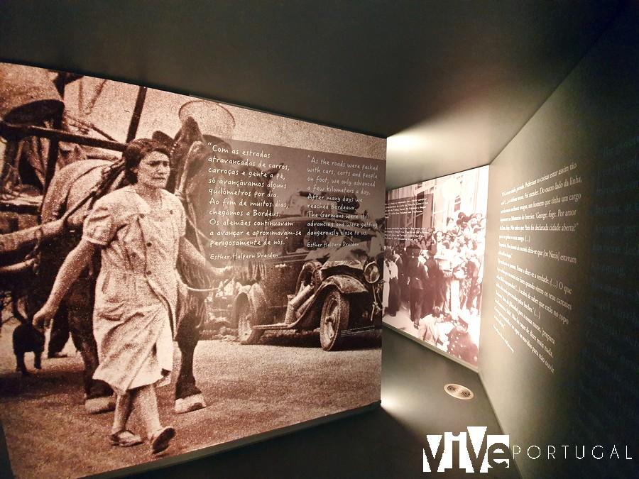 Uno de los paneles informativos del museo Fronteira da Paz