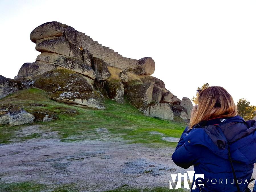 Vista del castelo de Moreira de Rei